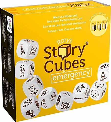 Asmodee Italia- Rory''s Story Cubes Emergency (żółty) gra tablicowa, Color, 8086