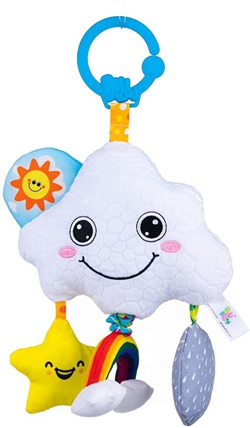 Balibazoo 80217 Musical Cloud, pozytywka, zabawka muzyczna, zabawka dla niemowląt, zabawka sensoryczna, bezpieczny pluszowy zwierzak, przyjaciel niemowląt, bezpieczna zabawka dla dzieci od 0 miesięcy
