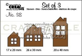 Wykrojnik CreaLies - no 38 Set of 3 Houses