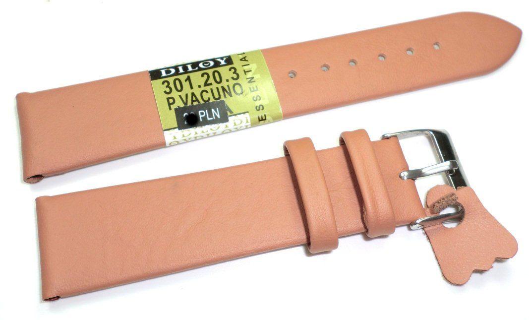 Skórzany pasek do zegarka 20 mm Diloy 301.20.3