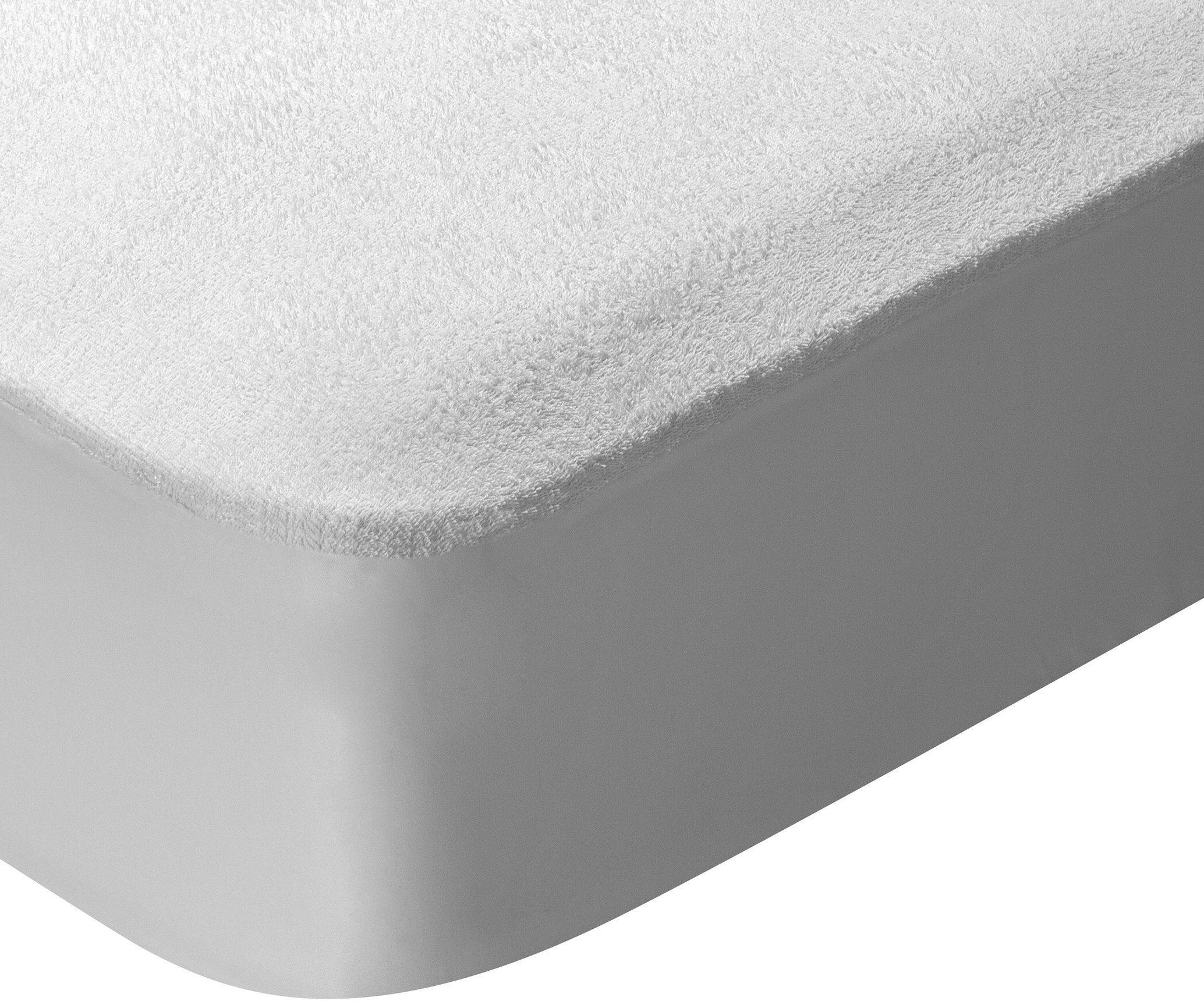 Pikolin Home  ochraniacz na materac z bawełny frotte, szybki transport wilgoci i oddychający z ochroną przed roztoczami, rozmiar 140 x 190/200 cm
