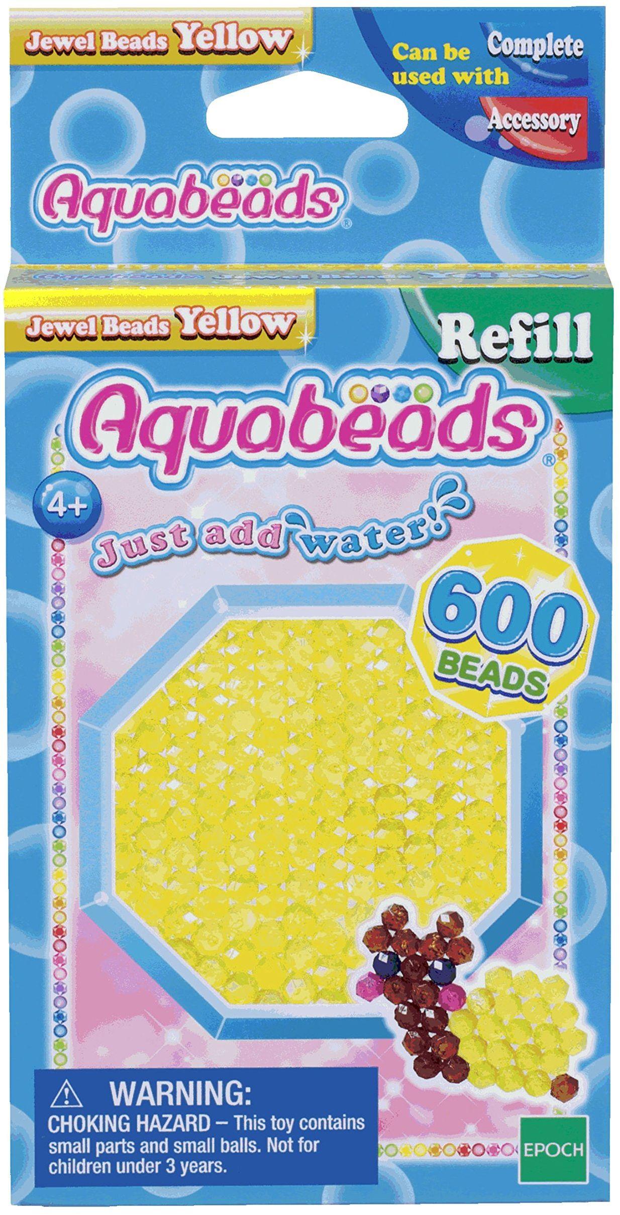 Aquabeads - Koraliki z kamieni szlachetnych - żółte