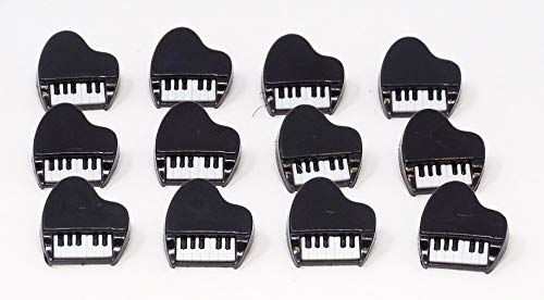 Dress It Up szycie przez guziki fortepianowe, czarny, 12-pak