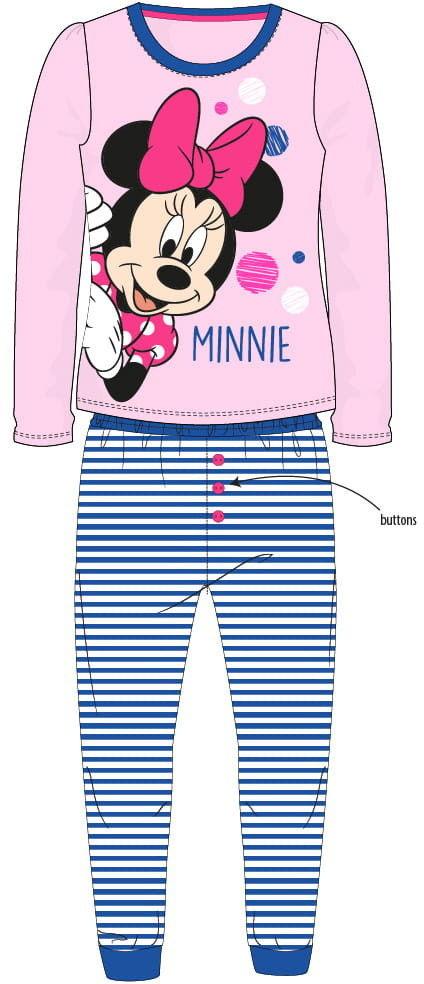 Piżama dziewczęca z Myszką Minnie - długi rękaw