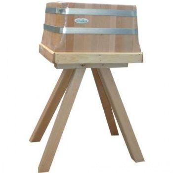 Kloc masarski tradycyjny na drewnianej podstawie