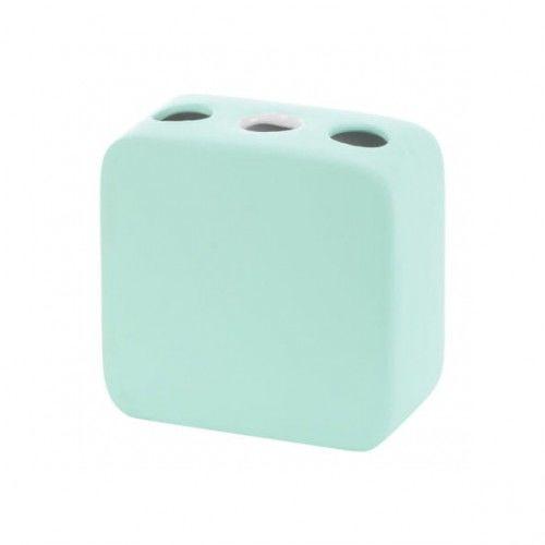 Kubek na szczoteczki ceramika gumowana mięta, Gusto
