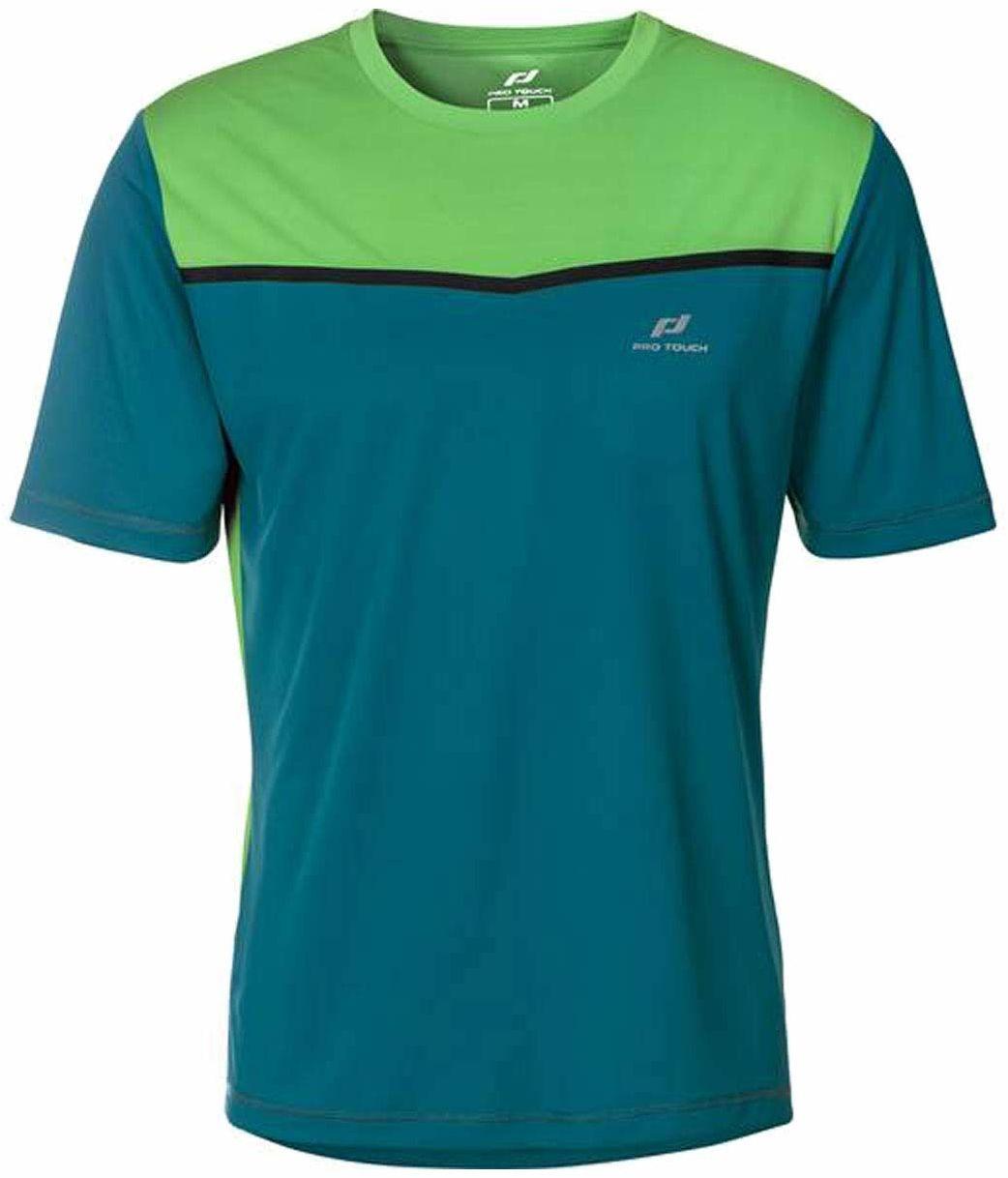 Pro Touch Aksel T-Shirt męski, Blueaqua/Green, XL