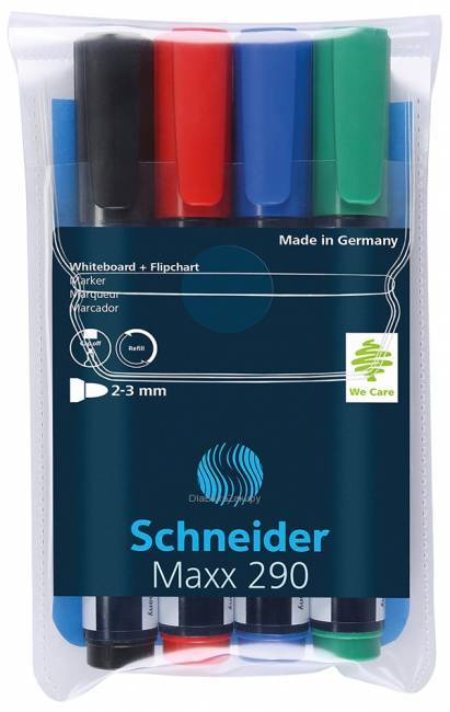 Marker do tablic SCHNEIDER MAXX 290 4 kolory - X01427