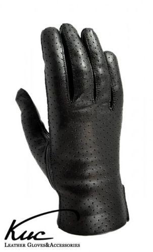 Skórzane rękawiczki nieocieplane - wiosenno-jesienne - skóra perforowana