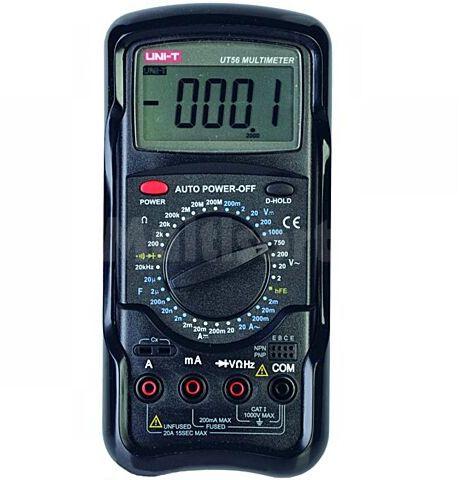 Multimetr cyfrowy UNI-T UT56 LCD (19999) V DC 200mV...1000V