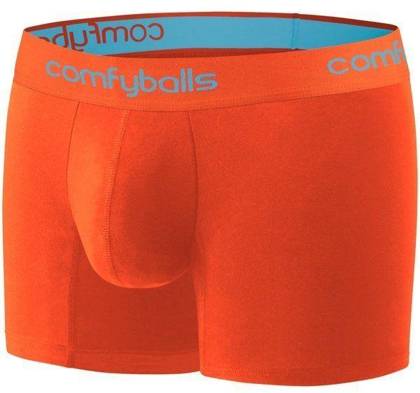 COMFYBALLS Bokserki do biegania LONG PERFORMANCE pomarańczowe