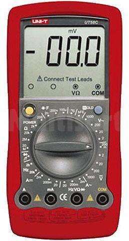 Multimetr cyfrowy UNI-T UT58C LCD (1999) 2x/s V DC 200mV...1000V