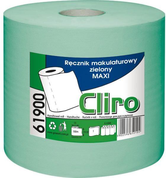 Ręcznik papierowy w roli MAXI (zielony) Cliro Ręcznik jednorazowy w rolce