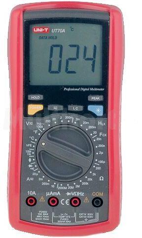 Multimetr cyfrowy UNI-T UT70A LCD 3,5 cyfry (1999) 2,5x/s -40 1000 C