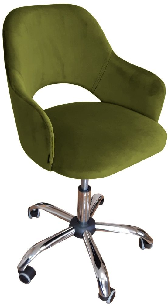 Fotel IZMA BL VELVET oliwkowy