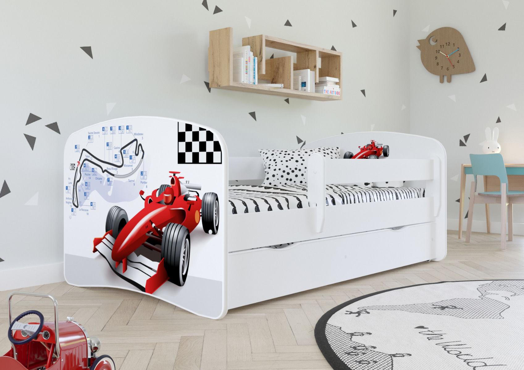Łóżko dziecięce BABY DREAMS formuła 1 160x80