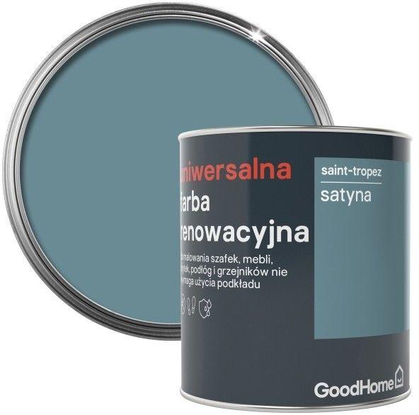 Farba renowacyjna uniwersalna GoodHome saint tropez satyna 0,75 l