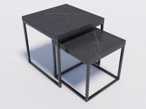 Zestaw stolików kawowych DUO1 wytrawny szary kamień 3,6 cm