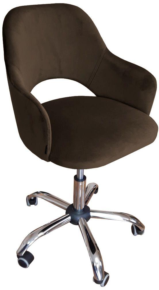 Fotel IZMA VELVET brązowy