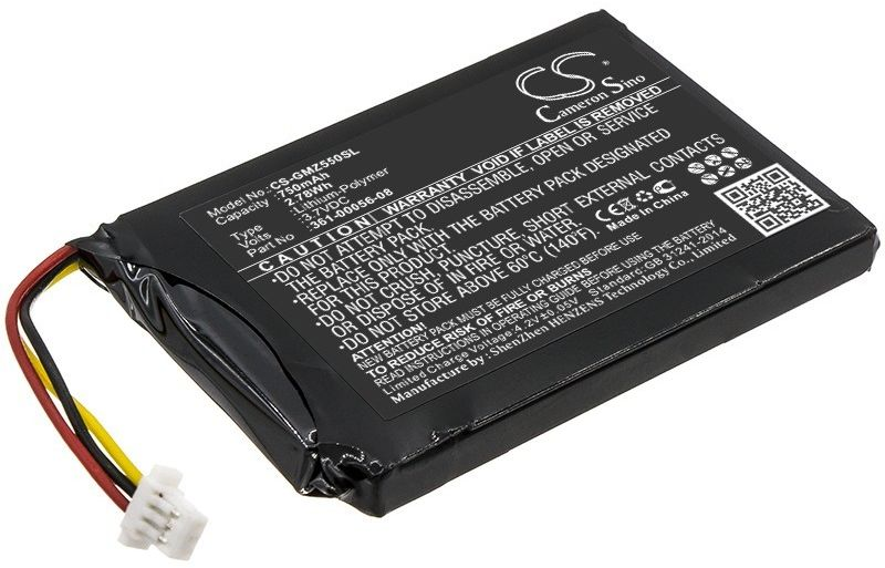 Garmin DriveSmart 5 / 361-00056-08 750mAh 2.78Wh Li-Ion 3.7V (Cameron Sino)