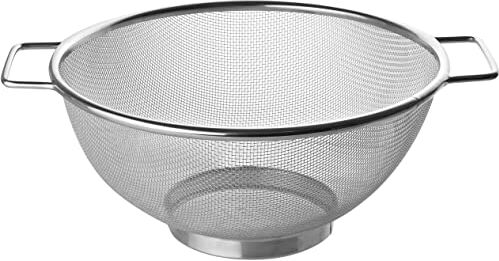 Fackelmann sitko Ø 26 cm, sitko kuchenne ze stali nierdzewnej, cedzak o drobnych oczkach z 2 uchwytami (kolor: srebrny), ilość: 1 sztuka