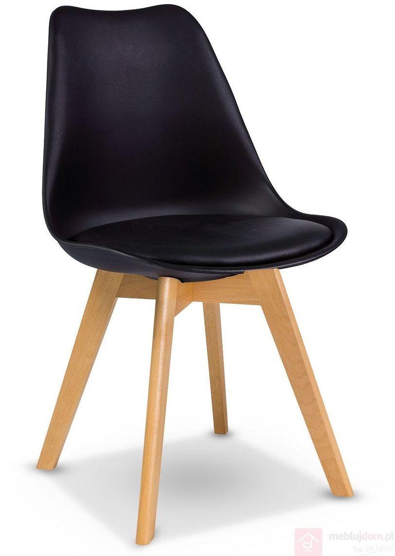 Krzesło KRIS Signal bukowe nóżki Czarny DARMOWA Wysyłka 24H