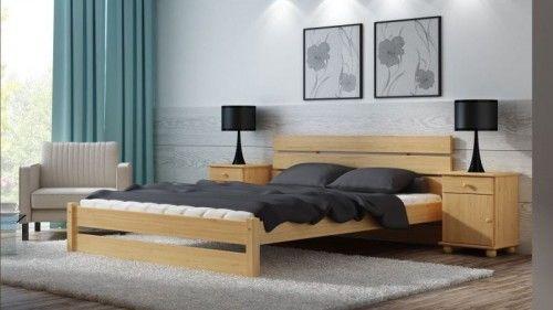 Łóżko drewniane sosnowe do sypialni Skandia 140x200