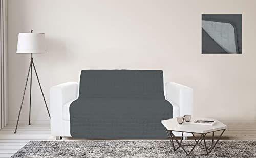 Sogni e Capricci Wodoodporny pasek na sofę, 125 x 190 cm, jasnociemnoszary, 2 miejsca