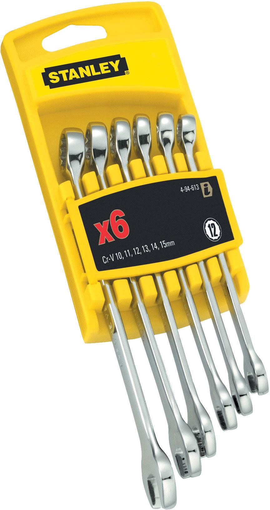 Zestaw 6 szt klucze płasko-oczkowe chrome