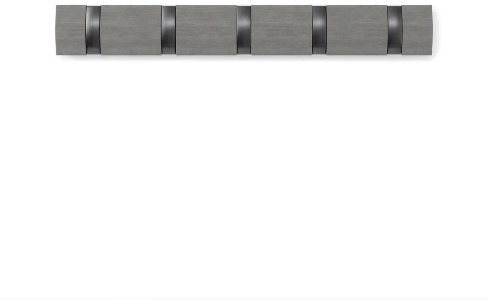 Umbra - wieszak ścienny - flip - 5 haczyków - cyna
