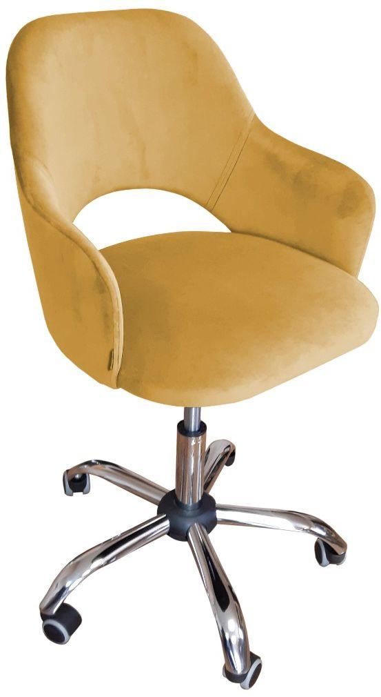 Fotel IZMA VELVET żółty