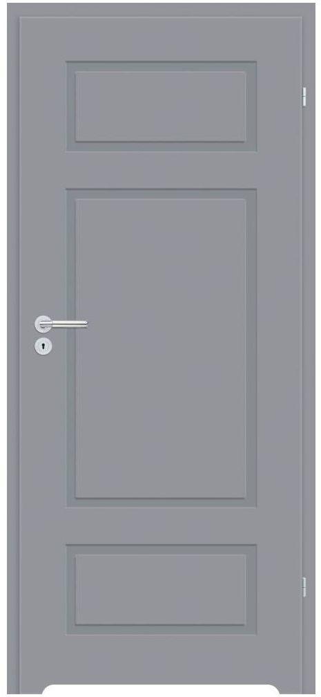 Skrzydło drzwiowe z podcięciem wentylacyjnym Grifo Szare 80 Prawe Classen