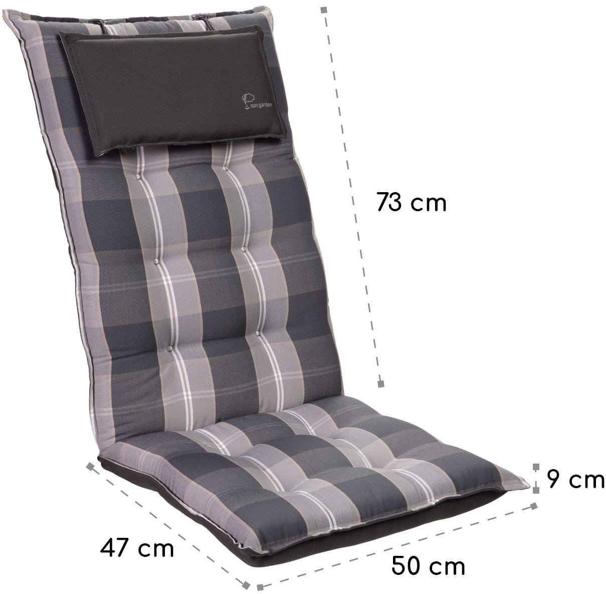 Blumfeldt Sylt, poduszka do siedzenia, na fotel ogrodowy z wysokim oparciem, poliester, 50 x 120 x 9 cm