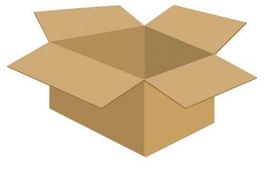 Karton klapowy tekt 3 - 450 x 350 x 250 470g/m2 fala C wymiar zewnętrzny