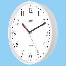 Zegar plastikowy biały Super Cichy