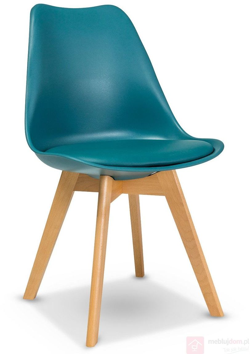 KUPON 10% NA STRONIE  Krzesło KRIS Signal bukowe nóżki Morski [Wysyłka 2020-08-19]