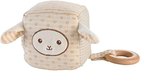 EverEarth Organiczna miękka zabawka pluszowa jagnię przytulanka blok miś miś zabawka dla niemowląt EE33704