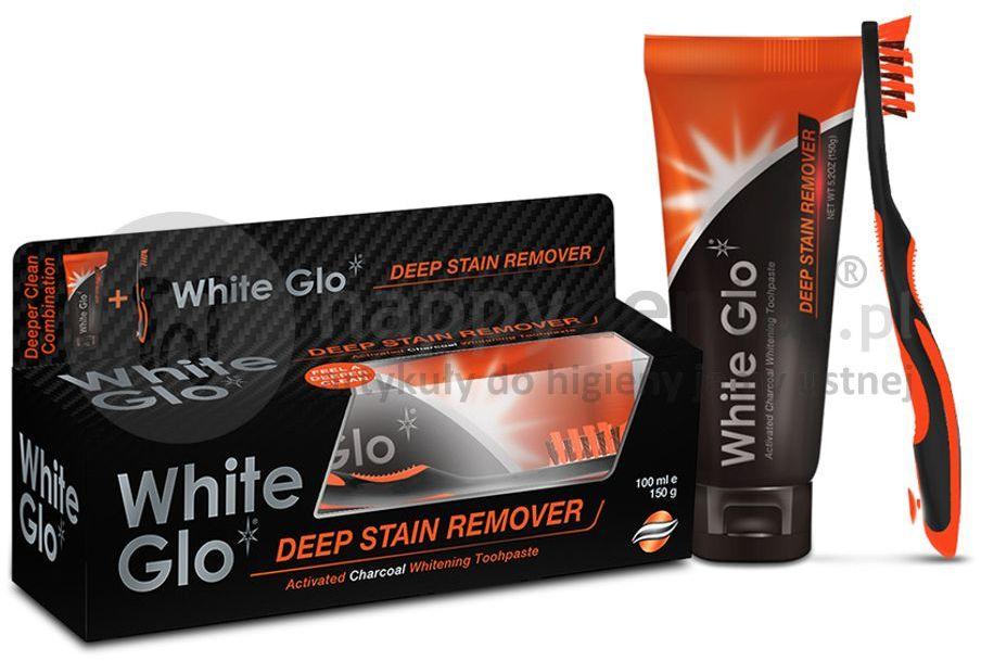 Pasta wybielająca do zębów WHITE GLO z aktywnym węglem przywraca zębom naturalną biel