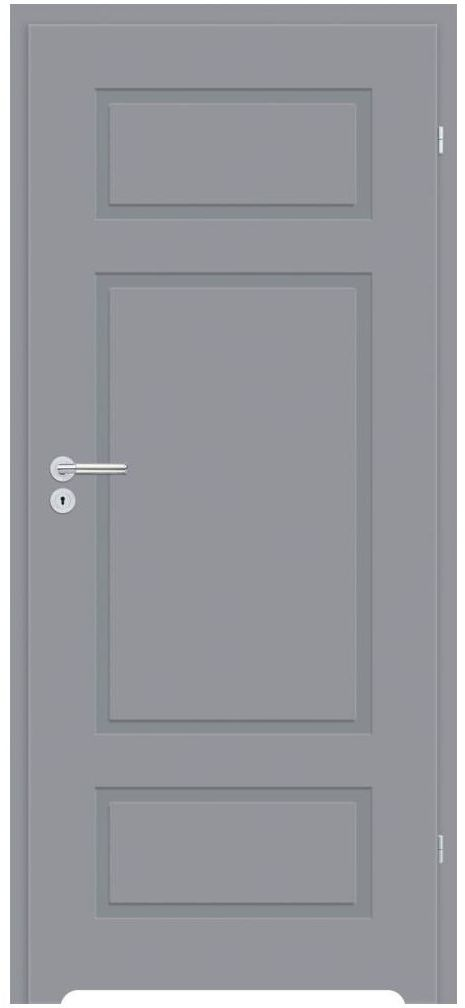 Skrzydło drzwiowe z podcięciem wentylacyjnym Grifo Szare 90 Prawe Classen