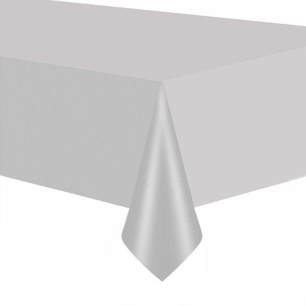 Obrus foliowy srebrny matowy 137x274cm 510208-matowy