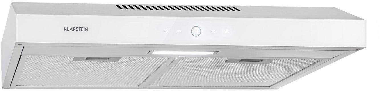 Klarstein Contempo Neo, okap kuchenny do zabudowy podszafkowej, 60 cm, 175 m3/h, LED, stal szlachetna, biały
