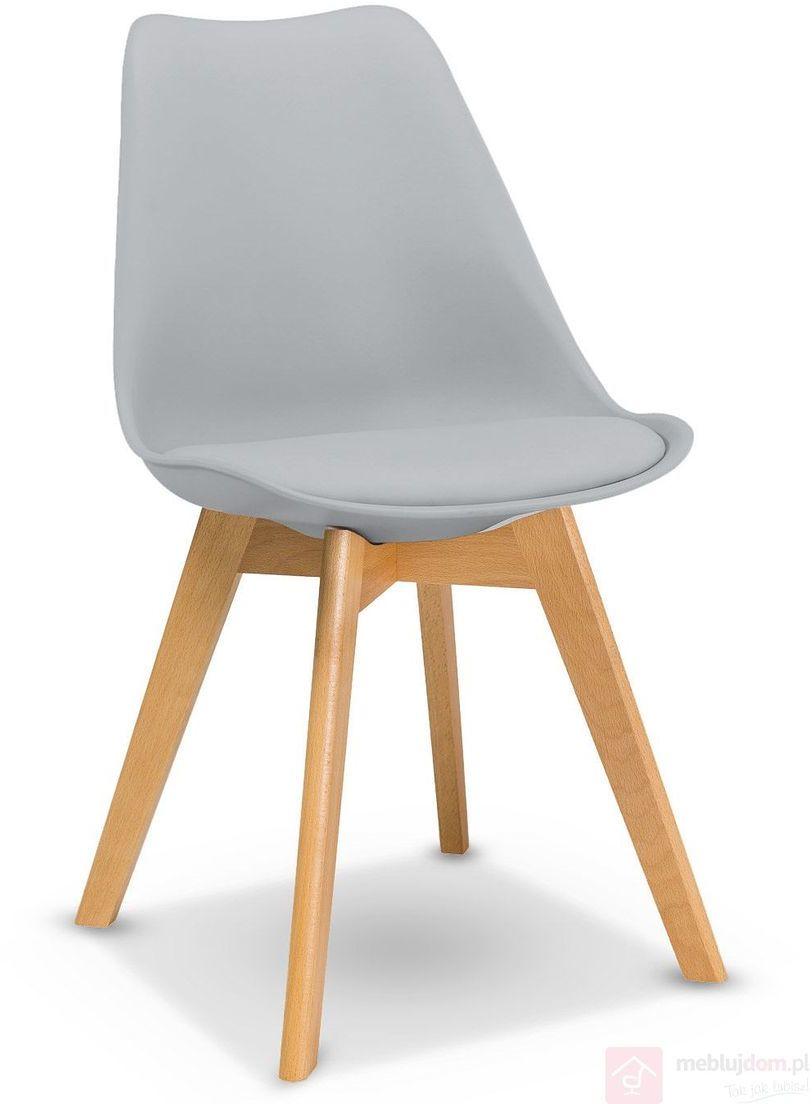 KUPON 10% NA STRONIE  Krzesło KRIS Signal bukowe nóżki Szary jasny [Wysyłka 2020-08-26]