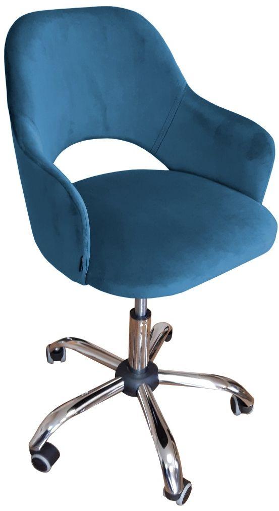 Fotel IZMA VELVET ciemno niebieski