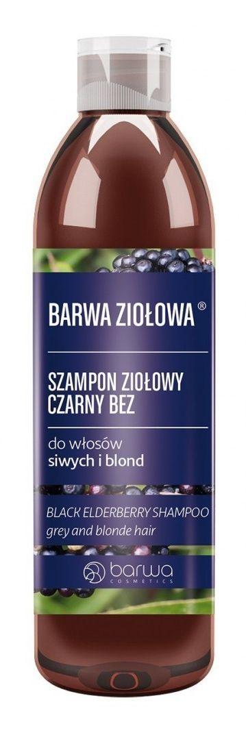BARWA BARWA Ziołowa Szampon do włosów Czarny Bez - włosy blond i siwe 250ml