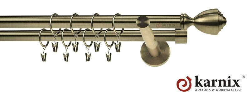 Karnisze nowoczesne NEO podwójny 19/19mm Avanti antyk mosiądz
