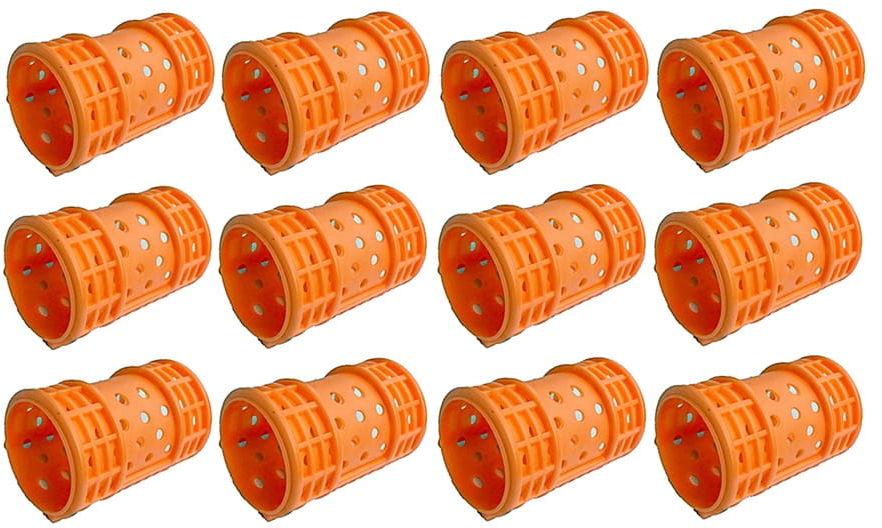 Wałki do włosów magnetyczne 36mm 12 szt. orange