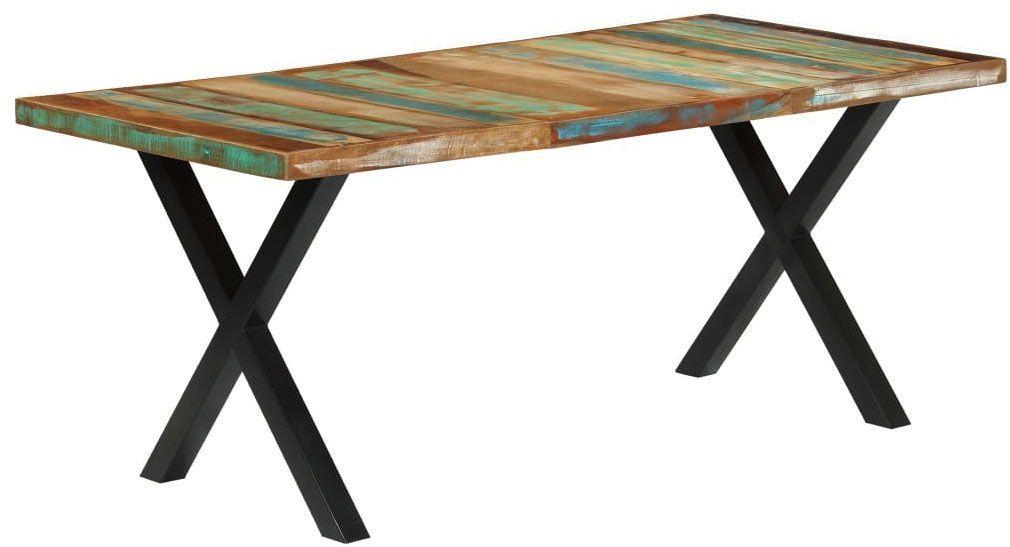 Stół z litego drewna Mirun  wielokolorowy