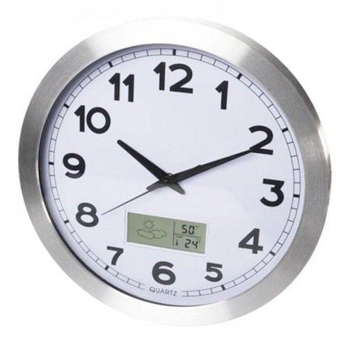 Zegar stacja pogody sterowany radiem DCF /35cm