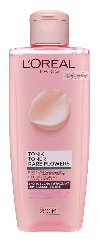 L''Oréal - RARE FLOWERS TONER - Tonik do skóry suchej i wrażliwej