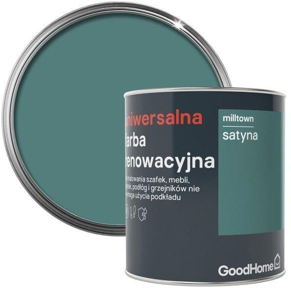 Farba renowacyjna uniwersalna GoodHome milltown satyna 0,75 l
